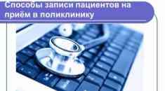 Способы записи пациентов на прием в поликлинику
